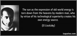 The sun as the expression of old world energy is torn down from the ...
