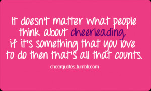 ... notes it doesn t matter what people think about cheerleading if it s