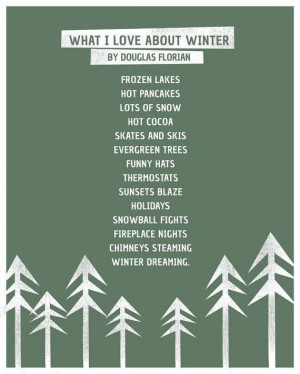 What I Love About Winter #winter #poem #Douglas_Florian