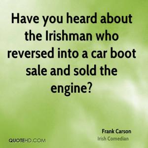 Frank Carson Car Quotes