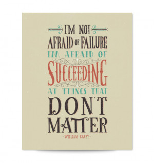 William Carey Quote Hand Lettered Typography Art Print