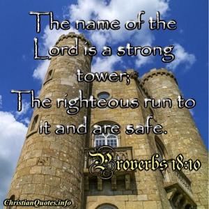 Proverbs 18:10 Quote – Scripture