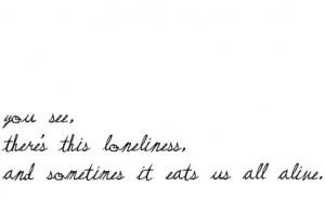 Sad Quotes On Loneliness