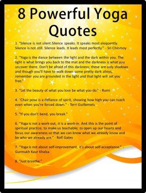 Off The Mat Powerful Yoga Quotes...