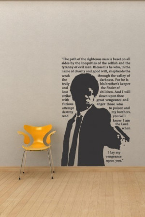 Pulp Fiction Jules Movie Quote Urban Vinyl Wall Decal