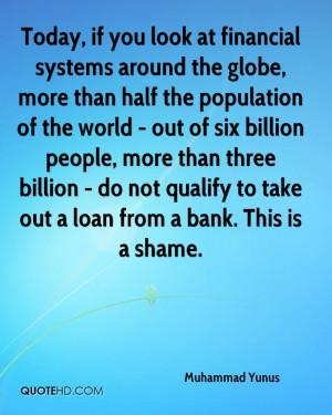 Muhammad Yunus Finance Quotes