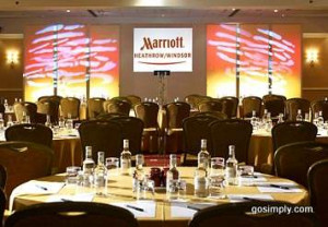 Restaurant at the Marriott Windsor Hotel for Heathrow Airport