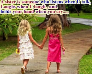 holds your hand when you cry sister picture quotes