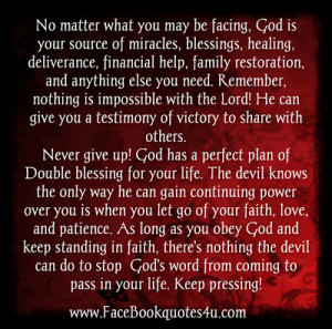 No matter what you may be facing, God is your