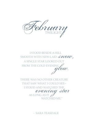 Image of Sara Teasdale 'February' - FREE