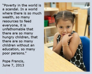 Pope Francis quote on poverty