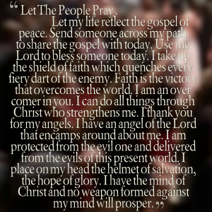 Quotes Picture: let the people pray let my life reflect the gospel of ...