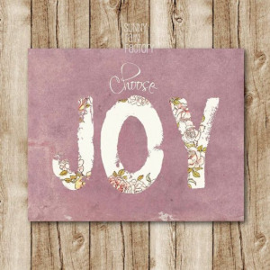 ... Joy printable inspirational quote art by SunnyRainFactory, $5.00