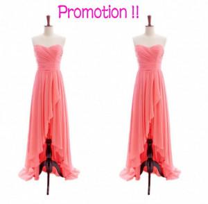 Coral Lace Bridesmaid Dress