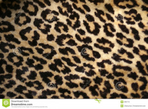 Leopard Print Design Fake Fur
