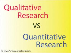 Qualitative Research...