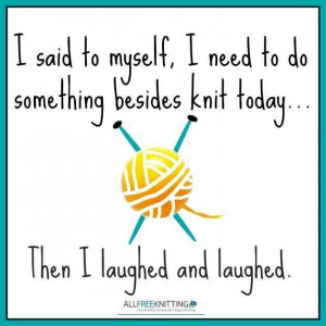 Knitting funny!