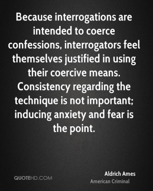 ... Consistency regarding the technique is not important; inducing anxiety