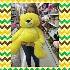 really wanted this giant yellow teddy bear. More
