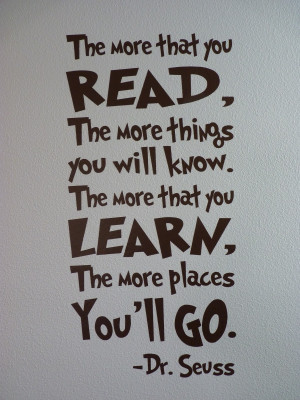 quote for children to all of the vinyl quotes for dr seuss reading ...