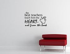 The Best Teachers Teach From The Heart...-Vinyl Quote Me Wall Art ...