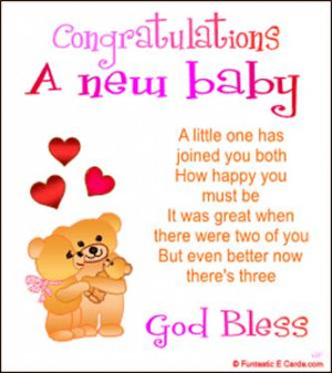 Congratulations A New Baby, A Little One Has Joined You Both How Happy ...