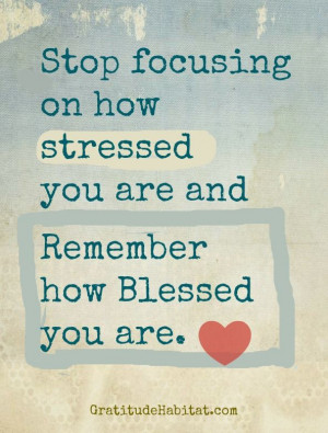 Don't Stress! Get blessed