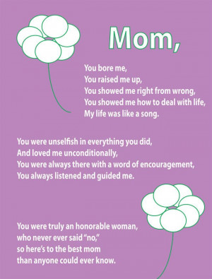 ... Showed Me How To Deal With Life My Life Was Like A Song - Mother Quote