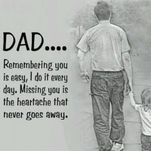 Dad Remembering You Is Easy, I Do It Every Day. Missing You Is The ...