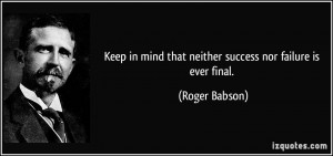 More Roger Babson Quotes