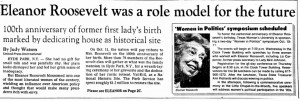 Eleanor Roosevelt Was a Role Model for the Future, Dallas Morning News ...