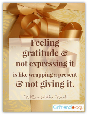 Celebrate Thanksgiving by telling your FRIENDS how grateful you are ...