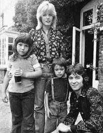 ... mclagan née kerrigan with daughter mandy moon and husband ian mclagan
