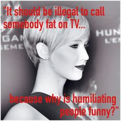 Jennifer Lawrence Says Fat Criticism Should Be Illegal