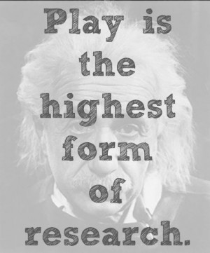 ve been using this Einstein quote a lot lately: