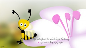 love flowers quotes honey bees life majd elhaj 1920x1080 wallpaper Art ...