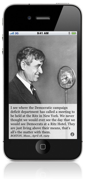 "Will Rogers on ""Democrats Living Above OUR Means"""