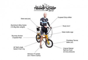 Dave Sims to ride grueling Tour de France course on a kid s bike to