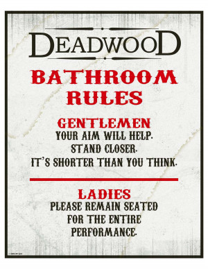 Bathroom Rules and Etiquette Signs