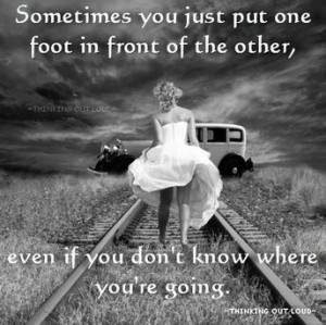 One step at a time ..