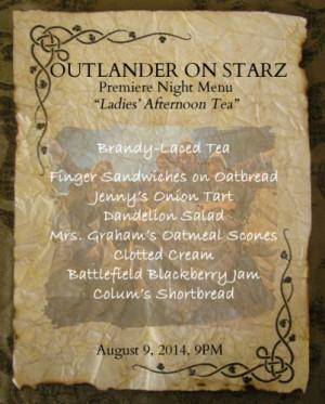... Starz Premiere Party Menu: Ladies' Afternoon Tea - Outlander Kitchen