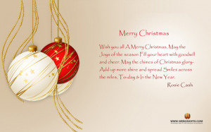 The presented Merry Christmas Quotes Wallpaper gives warm wishes of ...