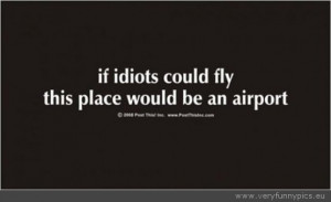 Funny Picture - If idiots could fly quote