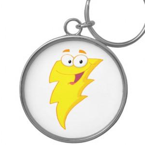silly cute cartoon lightning bolt character keychains