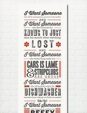 Typography Print Quote Print Liz Lemon 30 Rock Love by paperchat, $50 ...