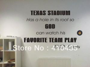Texas Stadium Dallas Cowboys funny football famous quote Wall Art ...