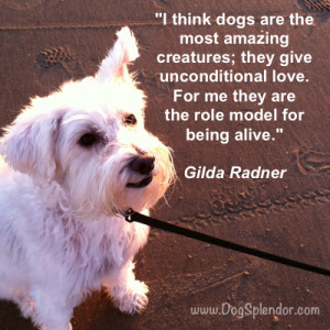Gilda Radner quote about dogs