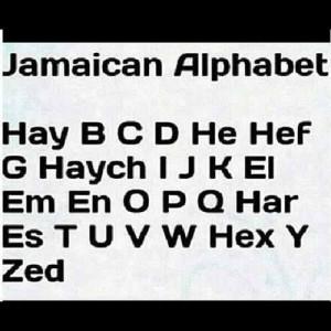 Jamaican alphabet