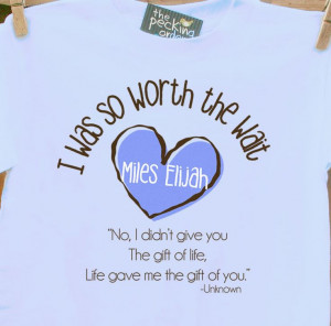 personalized shirt-I Was So Worth the Wait heart adoption quote ...