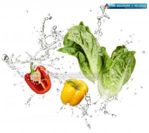 Vegetable Water Splash HD Wallpapers